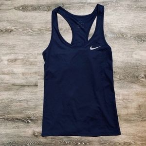 Nike Breathe Rapid Running Tank Navy